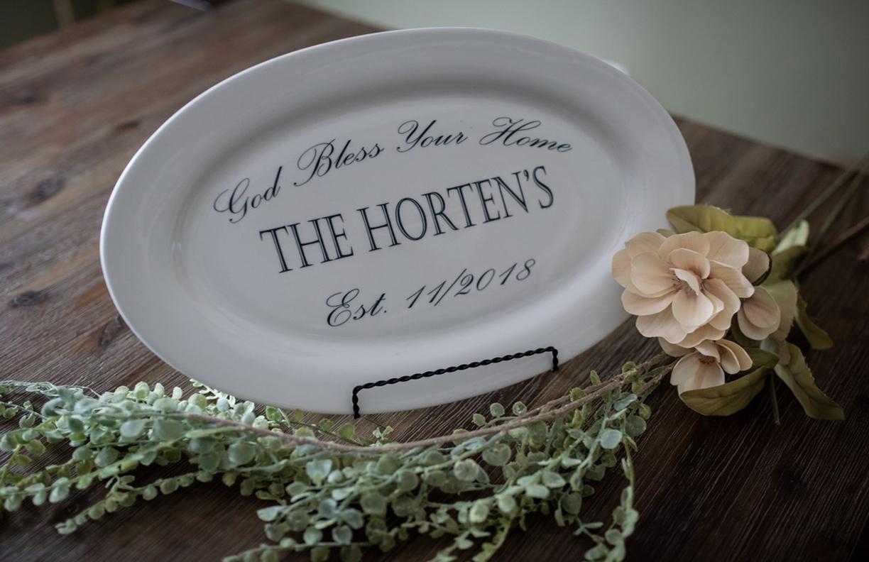 Personalized Platter Customized Platter White Platter Ceramic Platter Custom Platter Markitmaven